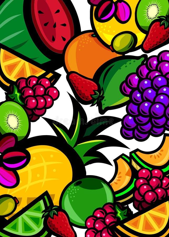 świeże owoce tło ilustracja wektor