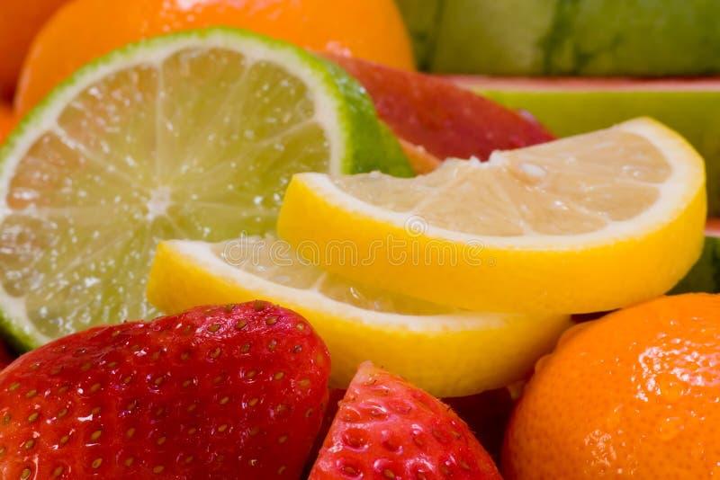 świeże owoce zestaw zdjęcia stock