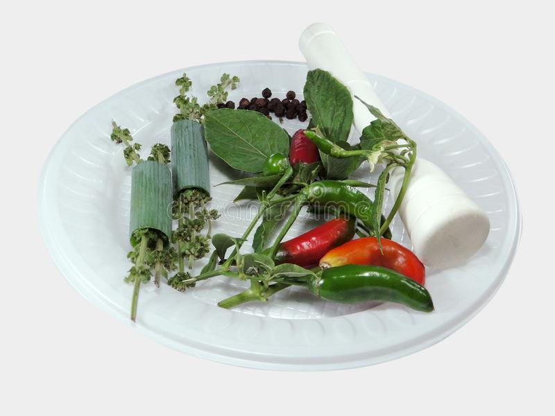 Świeże przyprawy korzenne z papryki tropikalnej obrazy stock