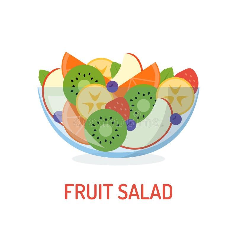 świeże sałatka owocowa ilustracja wektor
