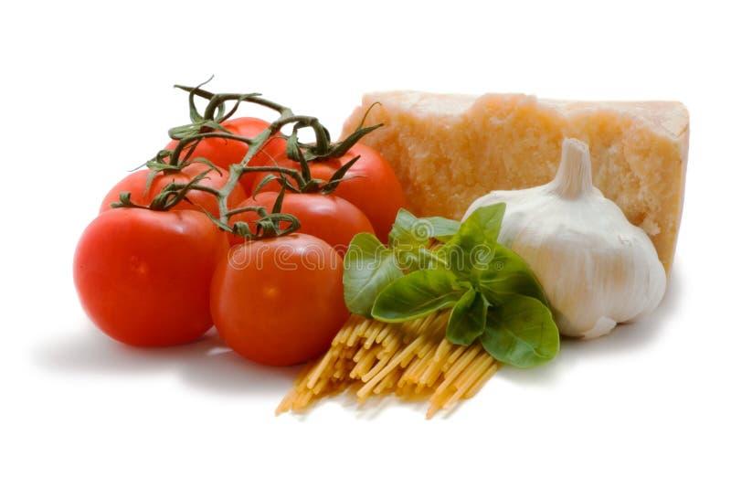 świeże składniki spaghetti obraz royalty free