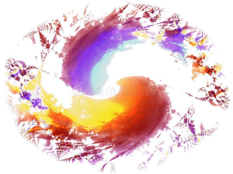 świeże szczotkarscy farb splatters royalty ilustracja