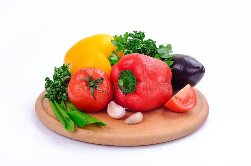 świeże warzywa mokre fotografia stock