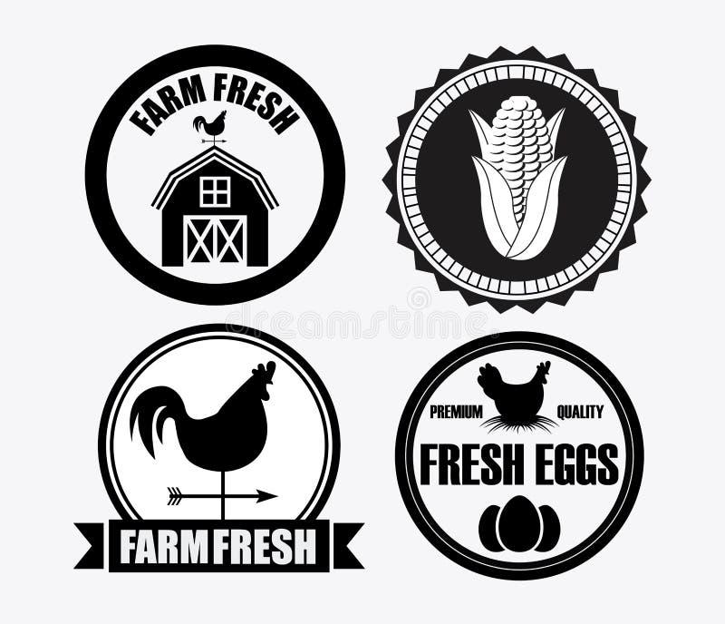 świeże z gospodarstw rolnych ilustracji
