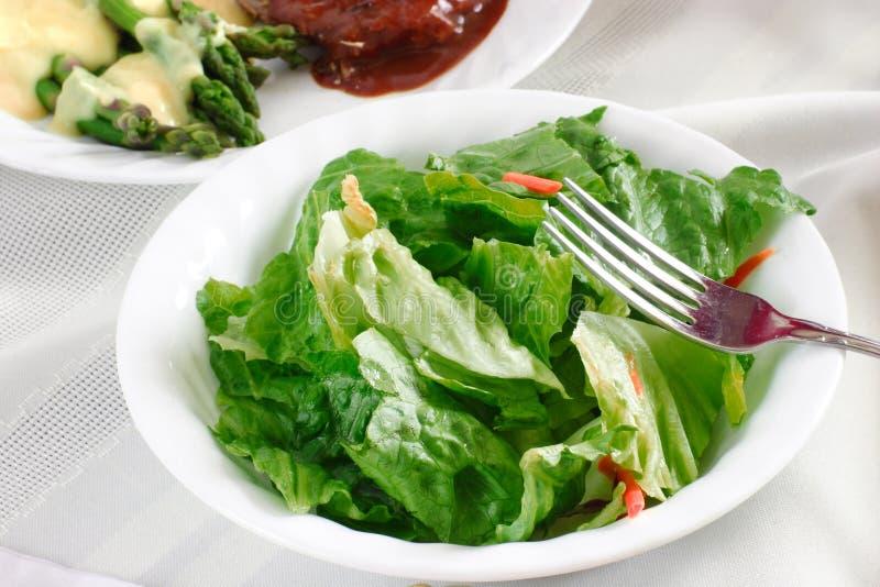 świeże zieloną sałatkę zdjęcie stock