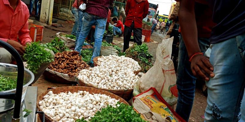 Świeże zielone warzywa zielone na rynku rolnym obraz royalty free