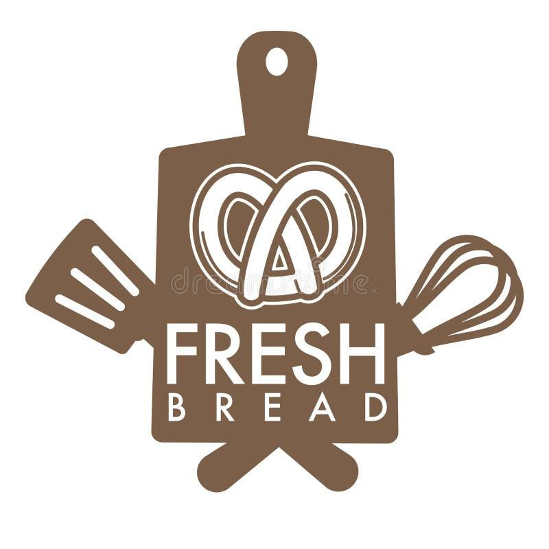 Świeżego chleba piekarni sklepu ikony odosobniony precel ilustracji