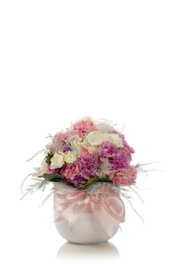 Świeżego kwiatu bukiet w wazie obraz royalty free