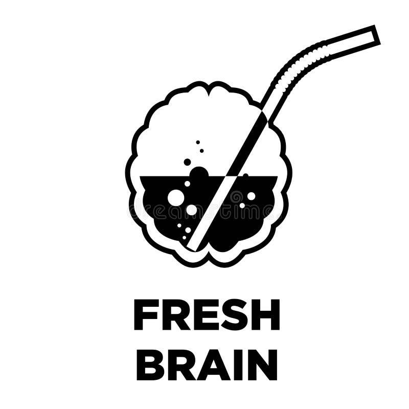 Świeżego móżdżkowego pomysłu kreatywnie ikona Mądrze inteligenci pojęcia wektoru szablon royalty ilustracja