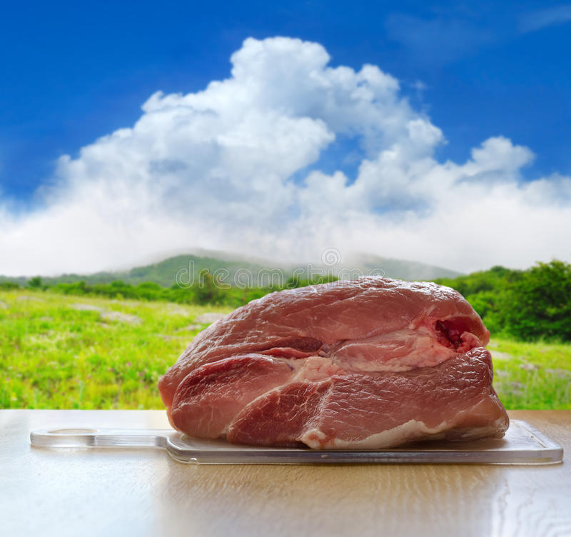 świeżego mięsa wieprzowina obraz royalty free