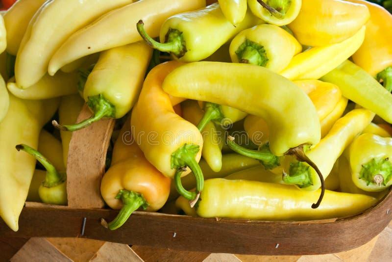 Świeżego produkt spożywczy banana pieprze obraz royalty free