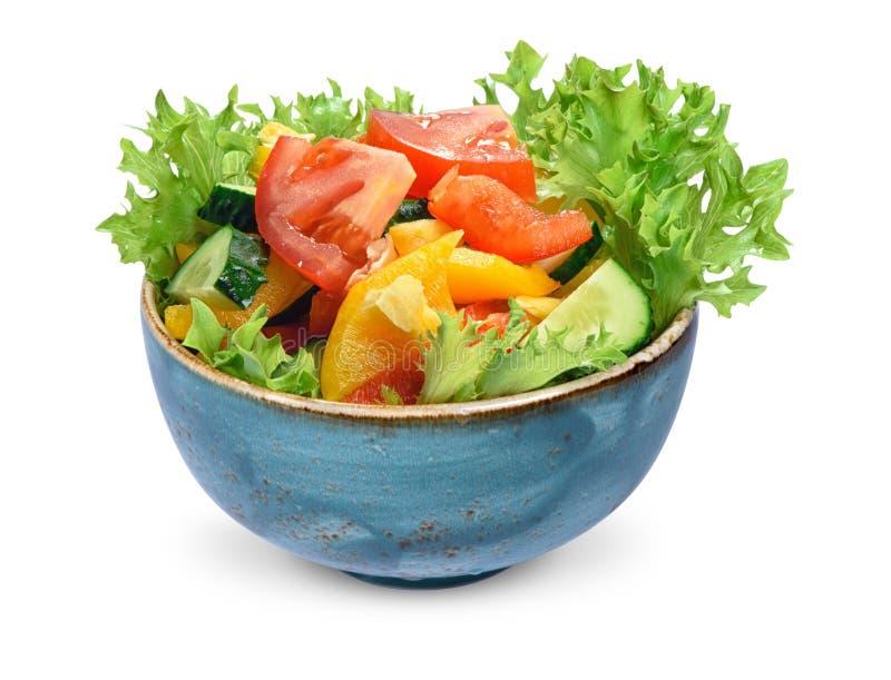 Świeżego warzywa sałatka odizolowywająca dieta fotografia stock