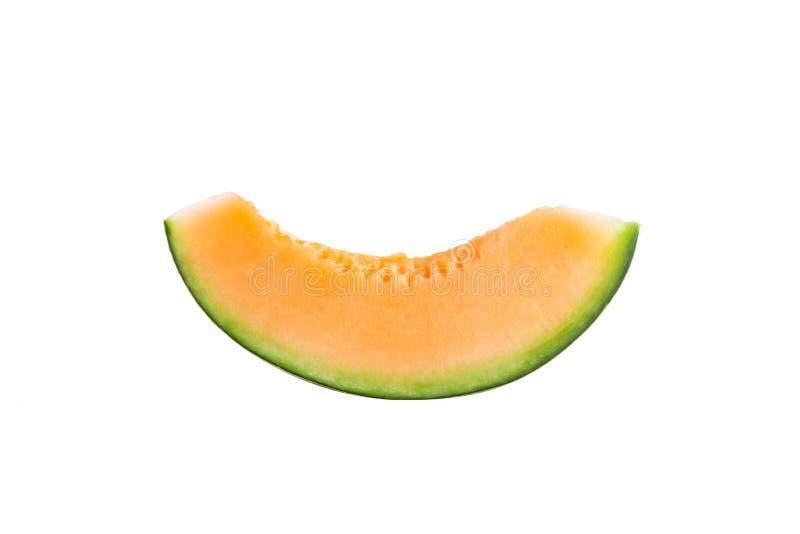 Świeżo ciie melon na białym tle obraz stock