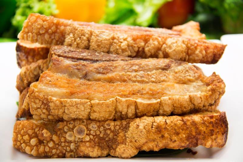 Świeżo piec crispy wieprzowina brzuch zdjęcie stock