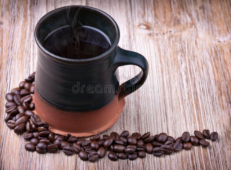 Świeżo przygotowana filiżanka czarna kawa fotografia royalty free