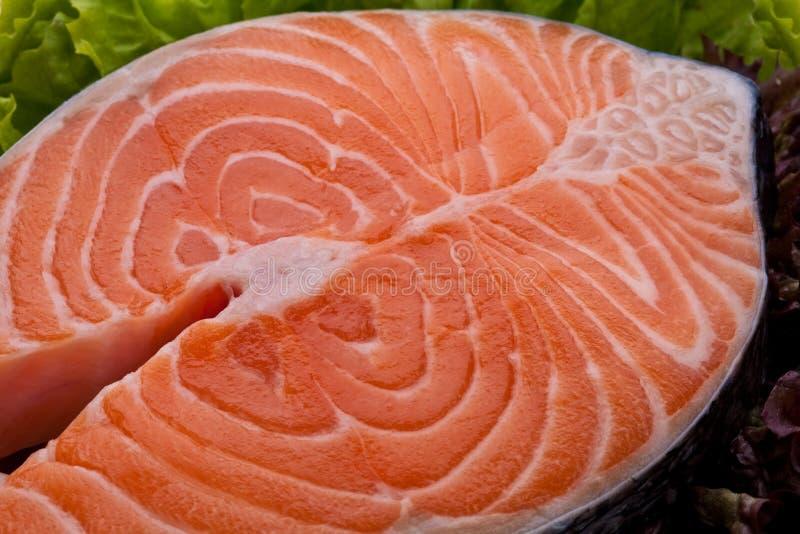 świeży łososiowy stek obraz royalty free