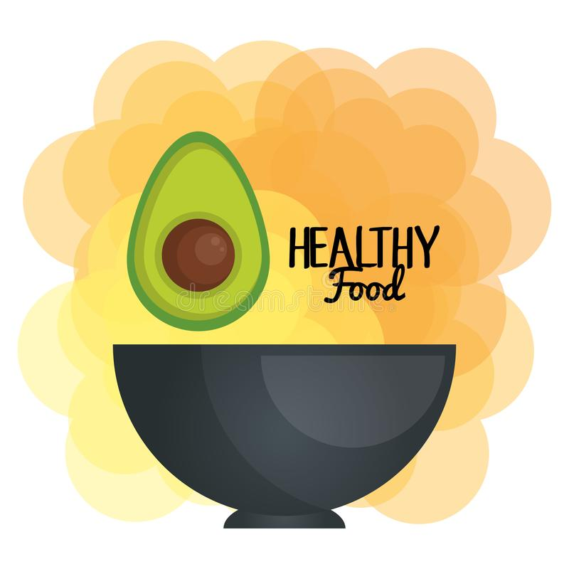 Świeży avocado w pucharu jarosza jedzeniu royalty ilustracja