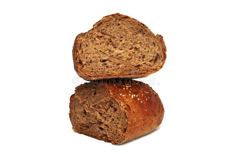 Świeży chleb odizolowywający, chleb łamający fotografia stock