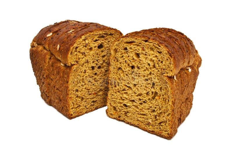 Świeży chleb odizolowywający, pokrojony chleb zdjęcia stock