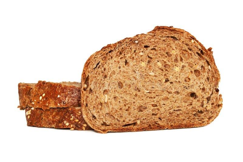 Świeży chleb odizolowywający, pokrojony chleb obrazy stock