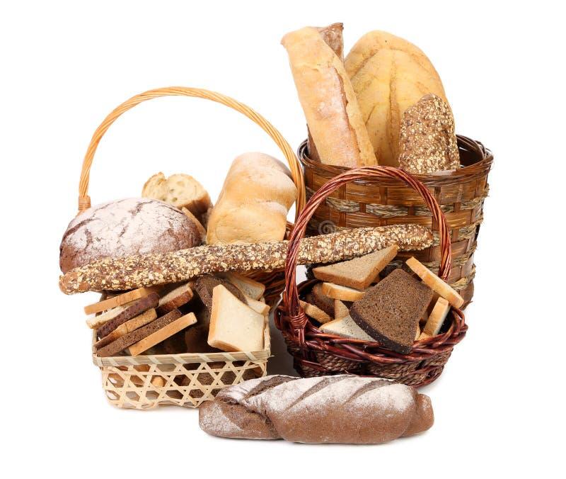 Świeży chleb w koszach zdjęcie royalty free