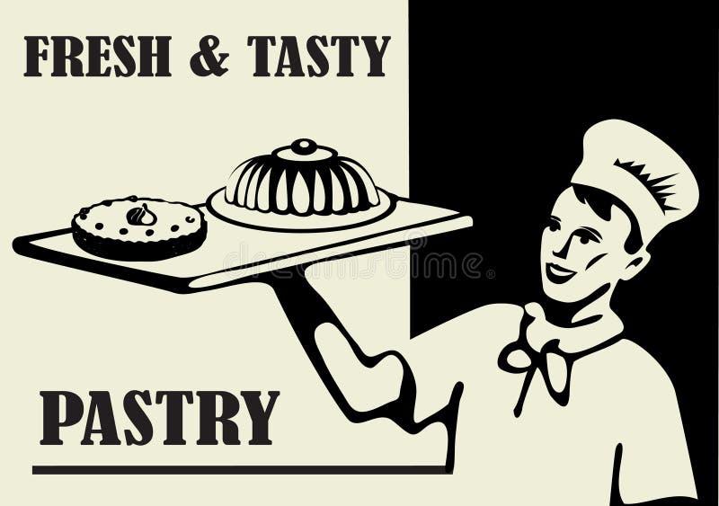 świeży ciasto ilustracja wektor