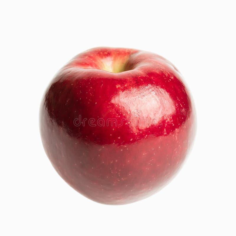 Świeży czerwony jabłko odizolowywający obrazy royalty free