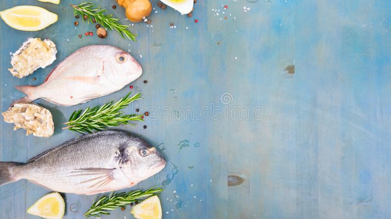 Świeży dennej ryba przygotowanie obrazy stock