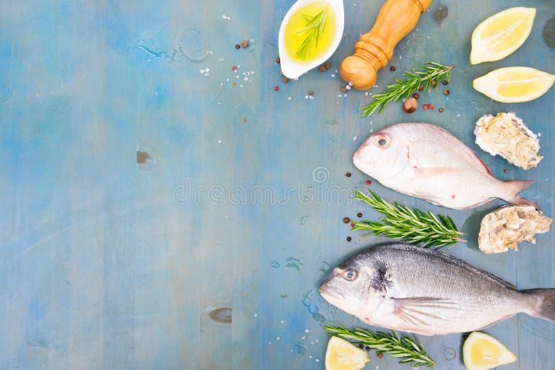Świeży dennej ryba przygotowanie obrazy royalty free