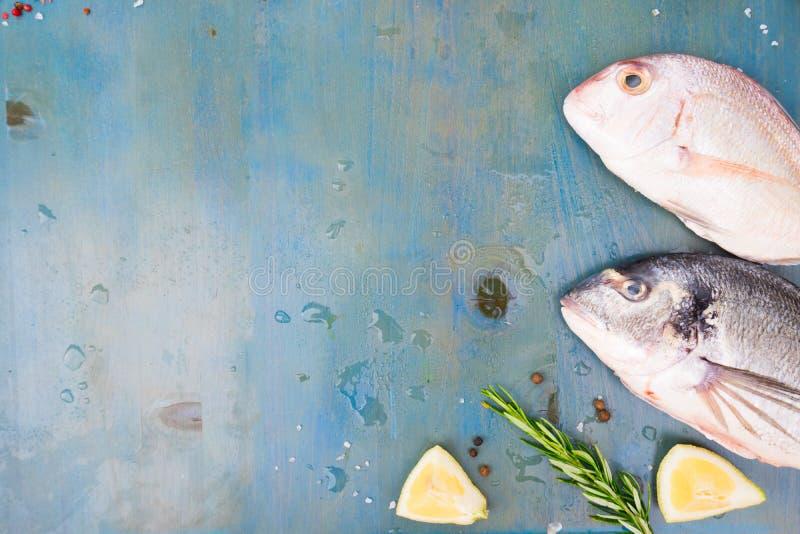 Świeży dennej ryba przygotowanie obraz stock