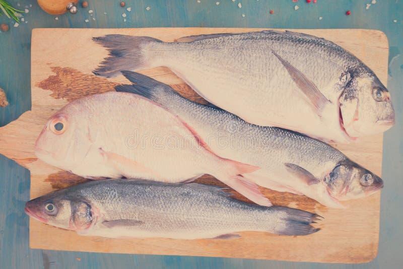 Świeży dennej ryba przygotowanie zdjęcie royalty free