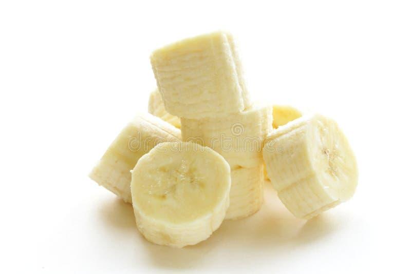 Świeży dojrzały banana cięcie w kawałki zdjęcia stock