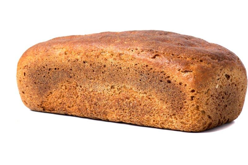 Świeży domowej roboty chleb na białym tle obraz stock