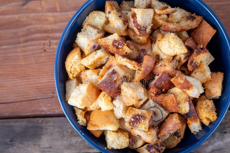 Świeży Domowej roboty chleba crouton fotografia stock