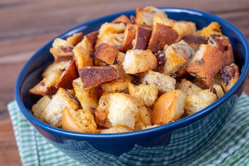 Świeży Domowej roboty chleba crouton zdjęcie stock