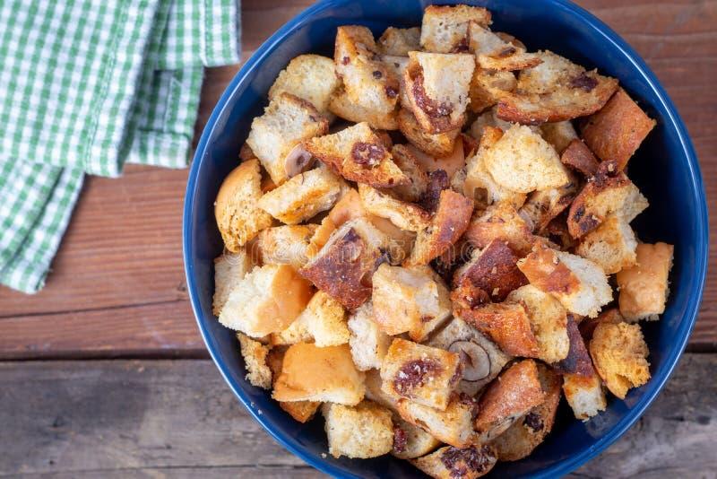 Świeży Domowej roboty chleba crouton obraz royalty free