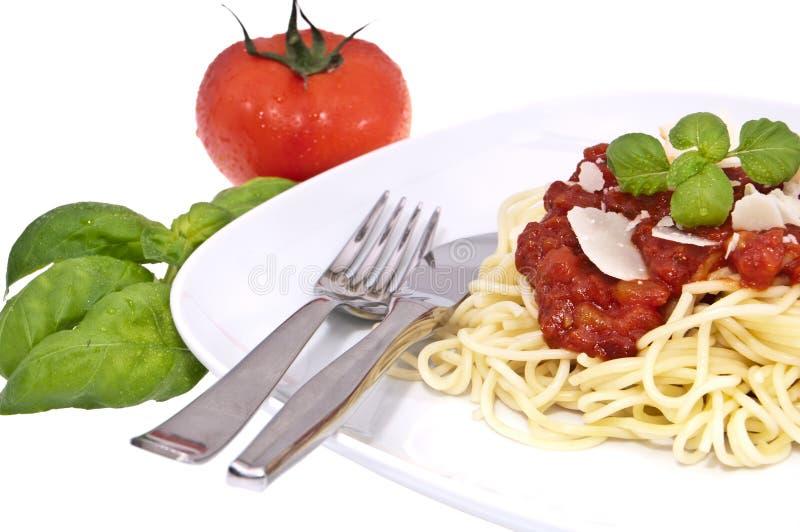 świeży domowej roboty spaghetti zdjęcie royalty free