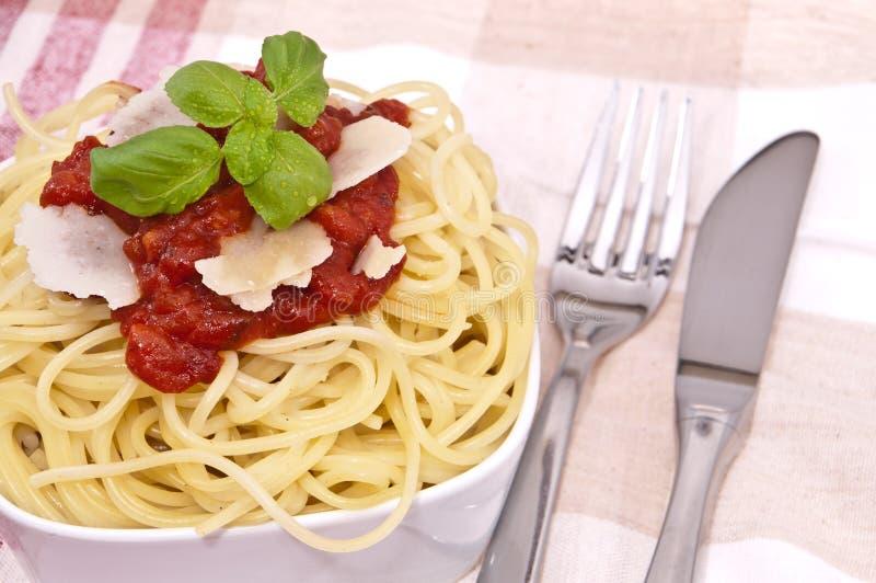 świeży domowej roboty spaghetti zdjęcia stock