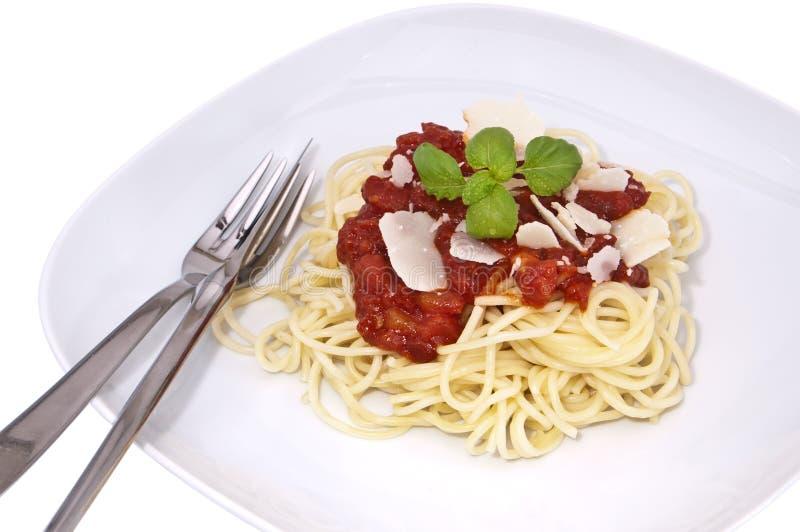 świeży domowej roboty spaghetti fotografia royalty free