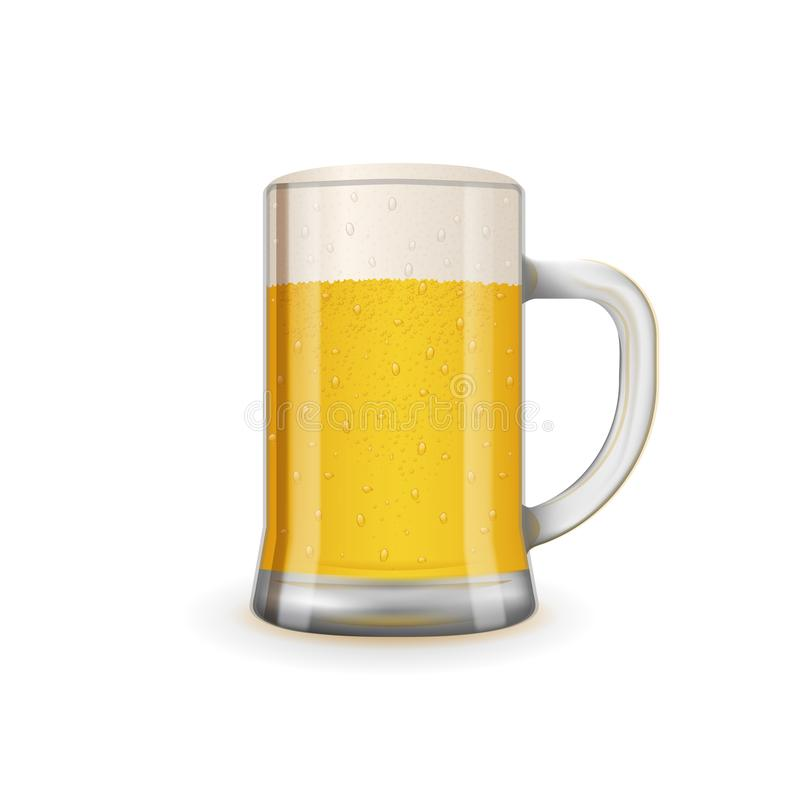 Świeży i smakowity szkło piwo ilustracji