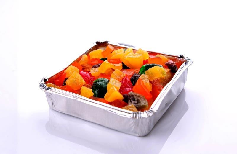 Świeży i smakowity tort z mieszanki owoc obraz stock