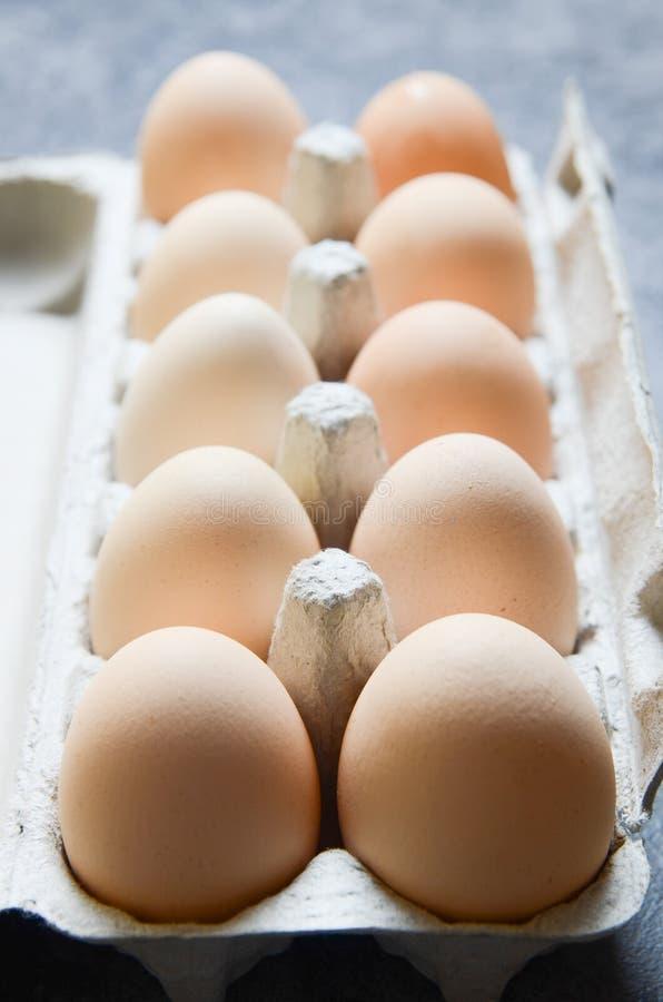 Świeży jajka tło zdjęcie stock