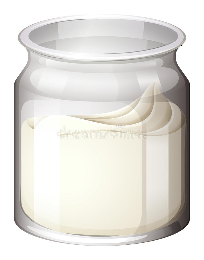 Download Świeży jogurt w słoju ilustracja wektor. Ilustracja złożonej z grafika - 57657649