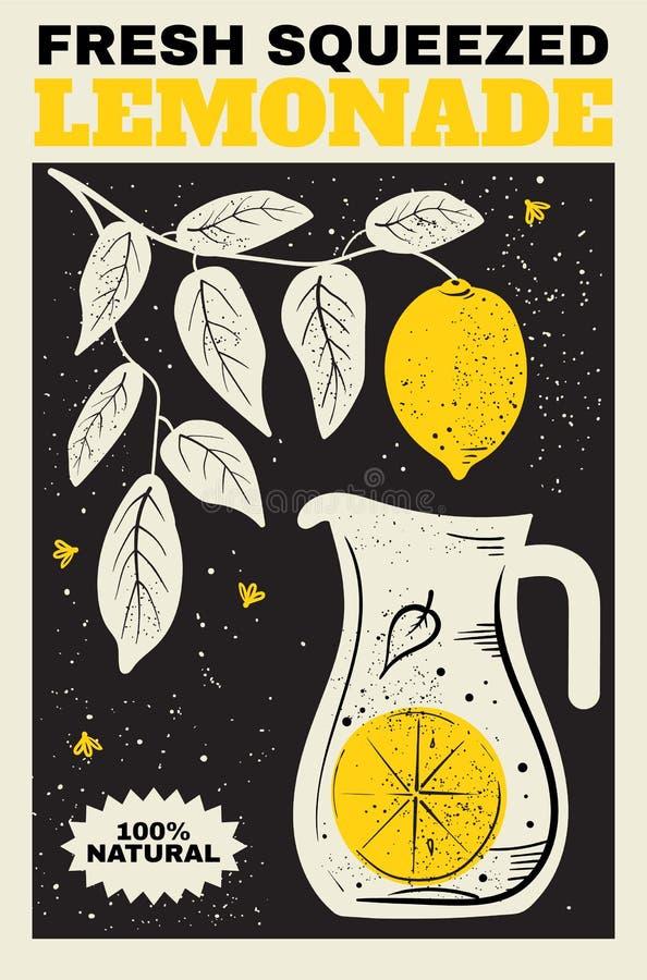 Świeży lemoniada plakat ilustracja wektor