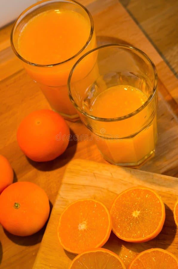 Świeży mandarynka sok obraz stock