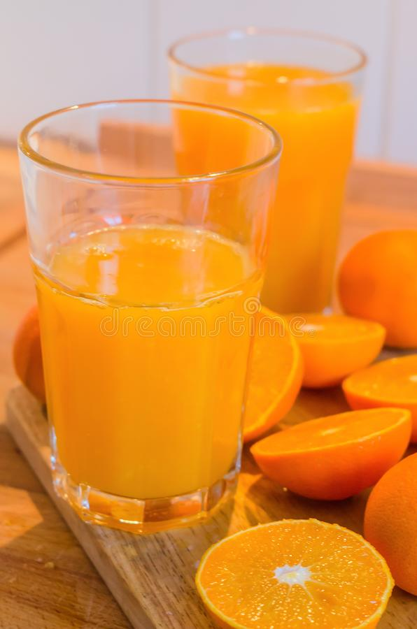 Świeży mandarynka sok zdjęcia royalty free