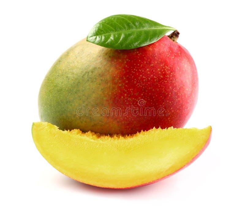 Świeży mango z plasterkiem zdjęcia stock