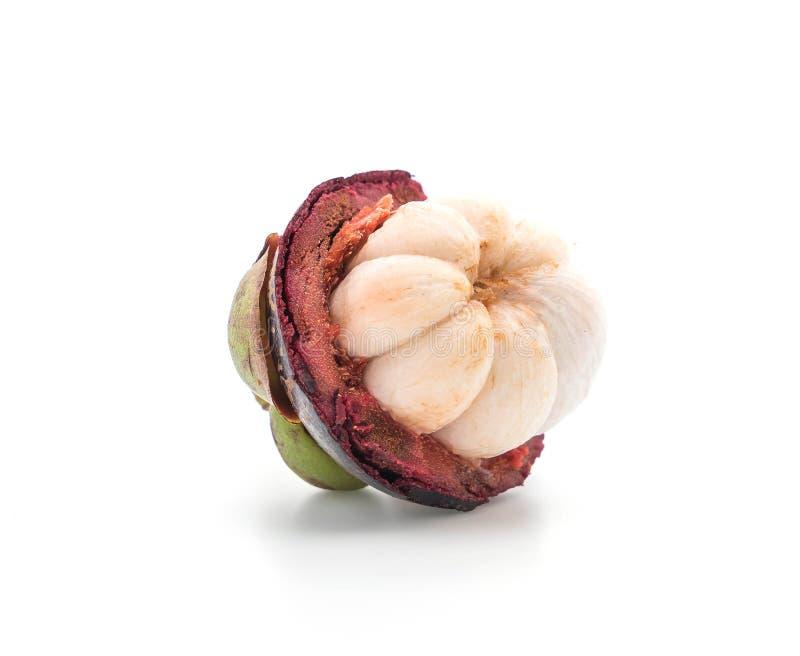 świeży mangostan na bielu zdjęcie stock