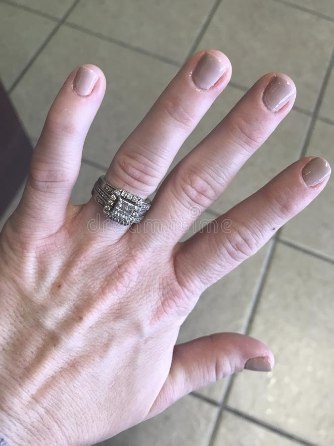 Świeży manicure zdjęcia stock