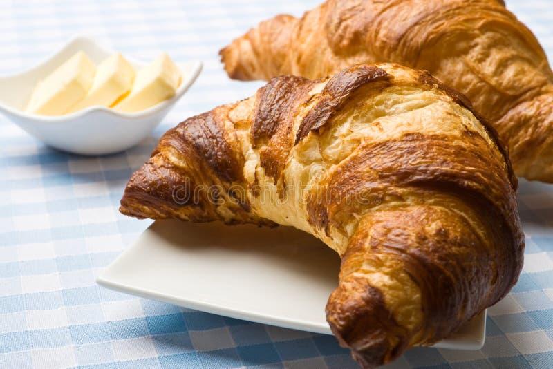 świeży masła croissant zdjęcia stock